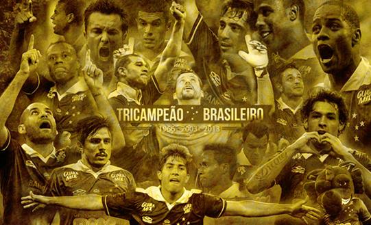 Cruzeiro Tricampeão Brasileiro - Divulgação