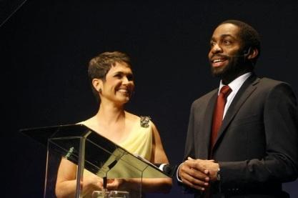 Lázaro Ramos e Sandra Annemberg foram os mestres de