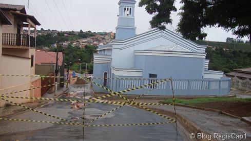 Rua Dr. Hermilindo, trecho interditado