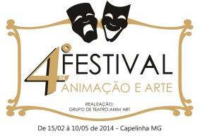 Logomarca - 4º Festival de Animação e Arte Capelinha MG