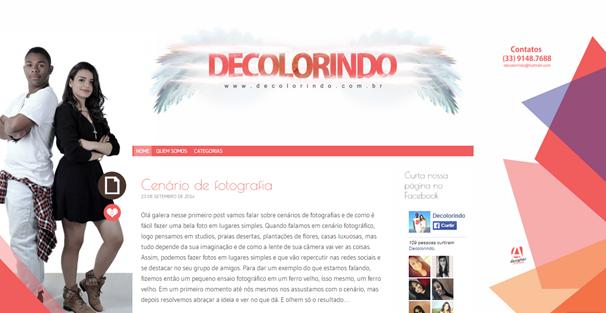 Site Decolorindo.com.br