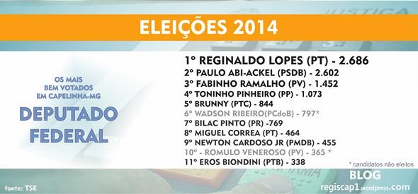 Deputados Federais mais bem votados em Capelinha