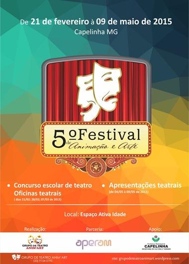 5º Festival de Animação e Arte - Cartaz divulgação
