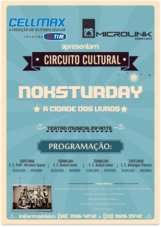 Circuito Cultural CellMax e Microlink - Noksturday A Cidade dos Livros