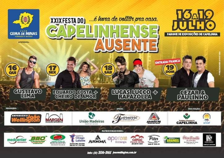 cartaz Capelinhese Ausente 2015